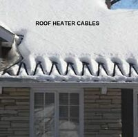 Winter roof repairs, damaged shingles ice damming, heater cables