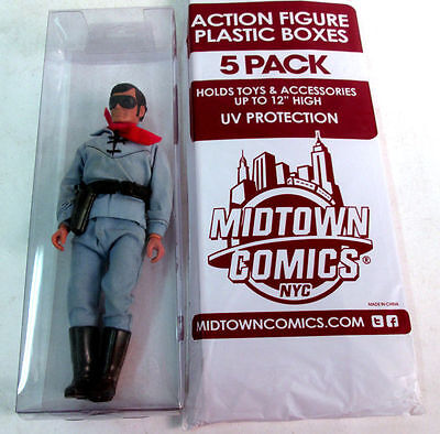 Midtown Comics Clear Plastic Action Figure Display Boxes 12 - 5 Pack New