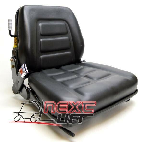 NEW VINYL FORKLIFT SUSPENSION  SEAT - SEAT BELT - SEAT SWITCH  UNIVERSAL FITMENT