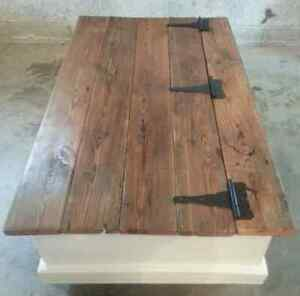 Custom Chest Style Coffee Table with Rustic Wood Top Peterborough Peterborough Area image 2