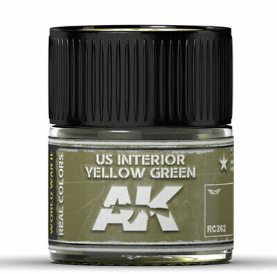 Real Colors: US Interior Yellow Green #RC262 Acrylic Lacquer Paint by AK