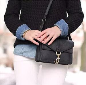 Rebecca Minkoff Midnight Saffiano Leather Crossbody Handbag Tote Perth Perth City Area Preview