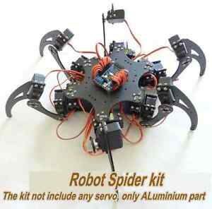 Alum-Alloy-Hexapod-Spider-for-Arduino-Six-3DOF-Legs-Robot-Frame-Kit-Matt-Spray