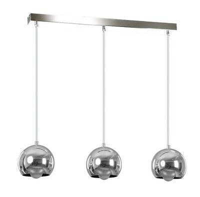Pendant Ceiling Light CHROME Finish Lampshade Retro Modern Fitting Metal Balls