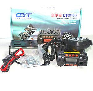 Mini Transceiver QYT KT8900 20W Powerful Mobile Radio Dual Band Car Radio