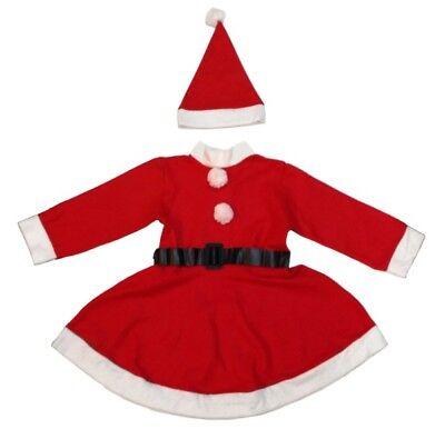 W06X Weihnachtsmannkostüm für Mädchen Nikolaus Kostüm (Weihnachtsmann Kostüm Für Mädchen)