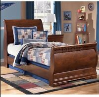 Solid Maple Ethan Allen Sleigh Bed- extra long