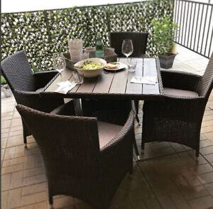 Resin Wicker Dining Set Clearance