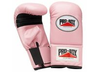 Pro-Box Ladies Pink Bag Gloves - Large + strapping