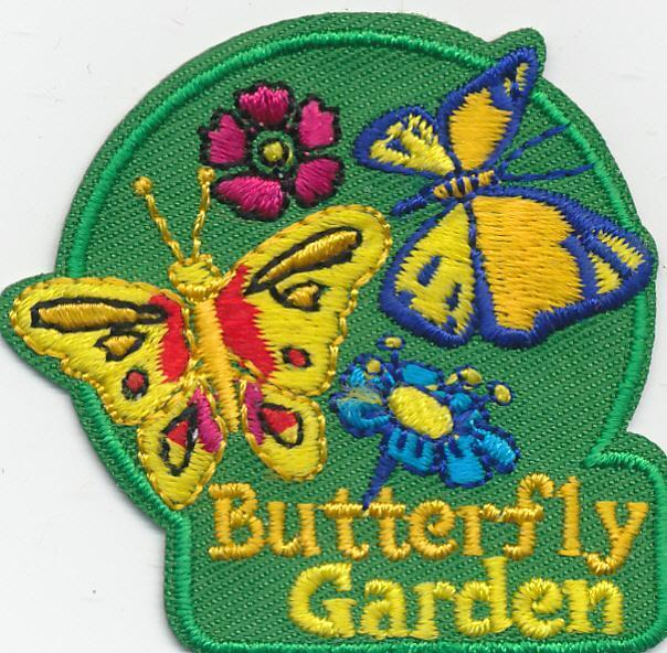 Boy Girl Cub BUTTERFLY GARDEN HOUSE Visit Fun Patches Crests Badges GUIDE/SCOUT