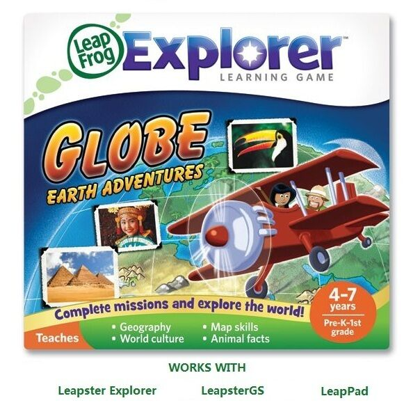 LeapFrog Frog Globe Earth Adventure Geography Game Leap Pad LeapPad LeapsterGS