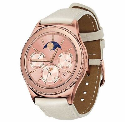 Samsung Galaxy Gear S2 Classic SM-R732 18K Plated Rose Gold Smartwatch Leather
