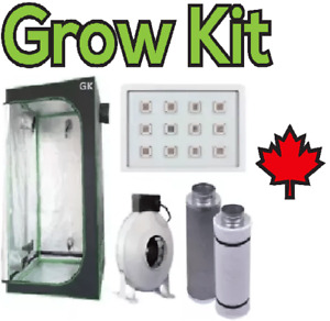 Hydroponic Indoor Growing Tent Box LED Light Fan Carbon Filter