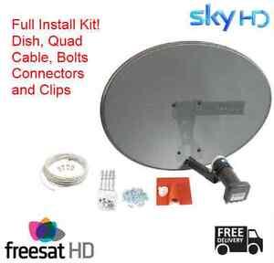 Sky-Sky-HD-Freesat-HD-Satellite-Dish-Full-40m-Install-Kit-White-Cable