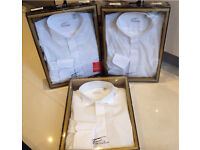 Groom and wedding party wing collar shirts