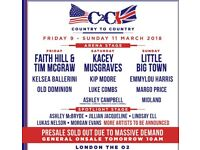VIP weekend pass country 2 country glasgow