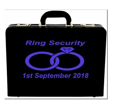 Personalised Wedding Ring Security Box Vinyl Sticker Decal Many Colours V42 - Ring Security Box