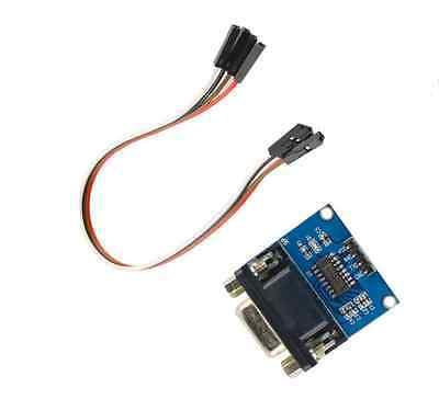 10pcs Max3232 Rs232 To Ttl Serial Port Converter Module Db9 Connector Max232