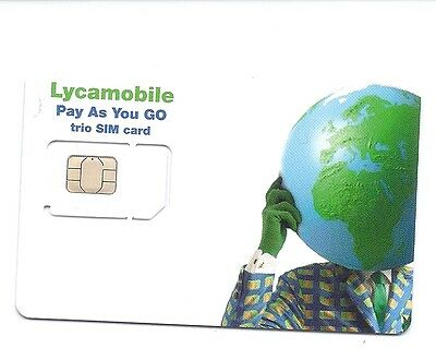 USA Lycamobile trio sim card    4G LTE   T-mobile USA network, used for sale  Shipping to United Kingdom
