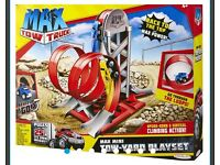 MAX TOW TRUCK Mini Tow Yard Playset. NEW
