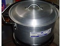SONEX COMMERCIAL ALUMINIUM STOCK POT COOKWARE - 18.0 Ltr