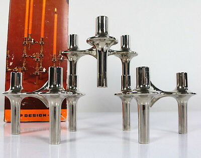 Nagel Kerzen Ständer Halter Top Box Design X111 Stecksystem Candle Holder 70er