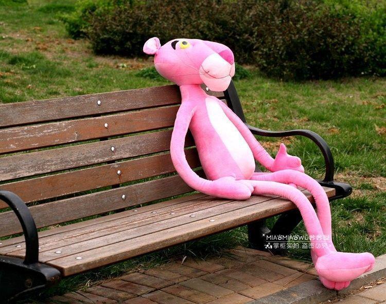 "160cm 63""Pink Panther Plush Toy Stuffed Animal Doll LARGE SIZE( Thin Version)"