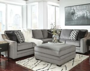 BRAND NEW GREY Ashley SECTIONAL couch