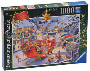 RAVENSBURGER PUZZLE 1000 SANTA'S CHRISTMA SUPPER LIMITED EDITION