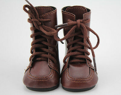 Doll Shoes Vintage Brown Leather Boots Fit 18 inch American Girl Doll Clothes