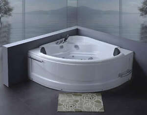 Vasche vasca idromassaggio doppia bagno 130x130 pompa ebay - Vasca da bagno doppia ...
