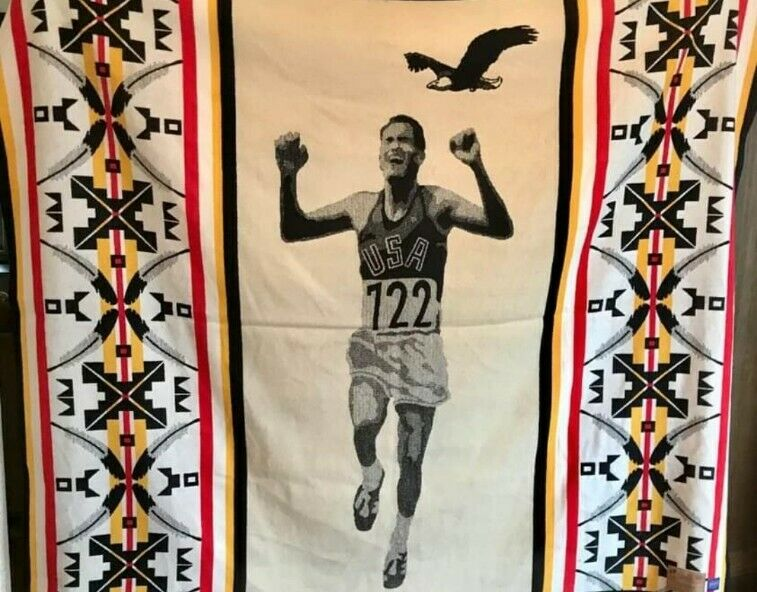 LIMITED EDITION Billy Mills Native American Olympian Pendleton Blanket Running S