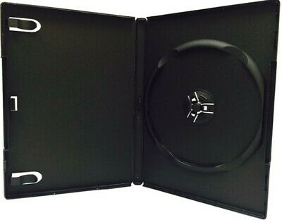 100 Premium Standard Black Single Dvd Cases 14mm New Material Dsp