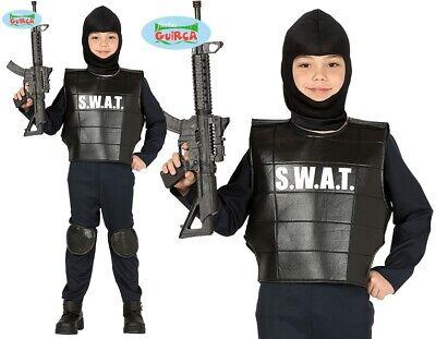 Childs SWAT Fancy Dress Costume Kids Boys Armed - Swat Kostüme Kid