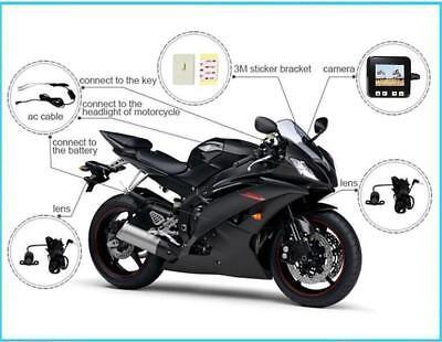Sykik C6 Motorcycle Biker Action Video Camera Set DVR 2 HD 720p Cameras NEW
