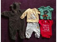 13 items baby boy clothes (3-6months)