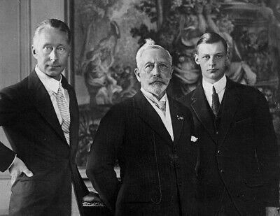 1927-KAISER WILHELM II-Son Crown Prince Wilhelm & Grandson Prince Wilhelm-PHOTO