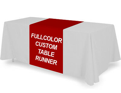 Personalized Custom Table Runner Cover Throw Tablecloth Fullcolor Printing 36x72 - Custom Table Cloths
