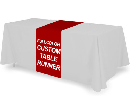Personalized Custom Table Runner Cover Throw Tablecloth Fullcolor Printing 24x72