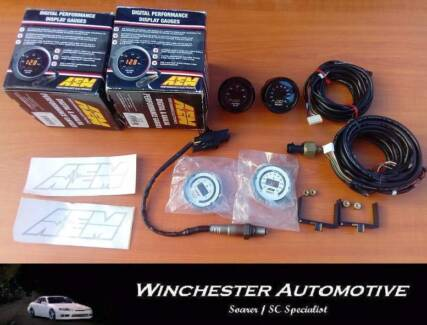 AEM WIDEBAND + BOOST GAUGE. BNIB.
