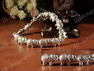 Workmanship Fine Fashion Tibetan Silver Elephant Bracelet Tibet Bangle AAA301