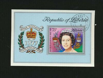 Liberia Queen Elizabeth 1977 Silver Jubilee Souv Sheet SCOTT # C221