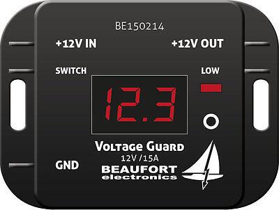Batteriewächter 12V programmierbar mit Display & Alarm-Ausgang