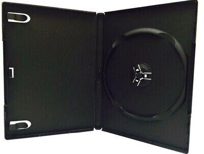 5 10 25 50 100 Standard 14mm Single Black Dvd Cases Hold 1 Cd Dvd Disc Premium