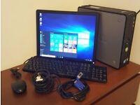 FREE MONITOR Dell Optiplex 780 PC Computer SFF Intel 4GB 160GB Win10Pro