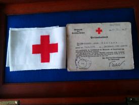 Ww2 original drk. I.d card with drk redcross armband