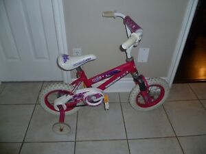 """12.5"""" Girl's Supercycle Roadstar Bike With Training Wheels"""