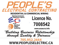 ESA Approved Electrician and Electric Company/Contractor
