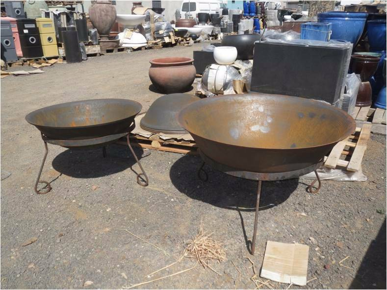 RUSTIC FIRE PITS BOWS STEEL 30% OFF  BONSAI POTS STATUES VASES