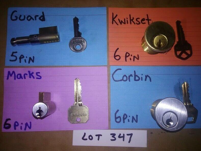 4 PCS. CHALLENGE LOCK CYLINDER SET; PICKERS, LOCKSPORT, LOT# 347